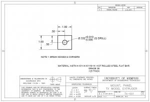 tx-001 panel mount